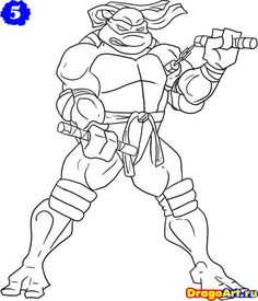 how-to-draw-michelangelo-from-the-tmnt-step-5