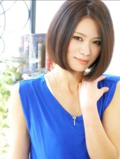 Blunt sophisticated bob hairstyle