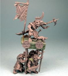 Skaven Warlord on Warlitter