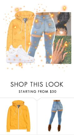 """""""⭐️"""" by nayaxx ❤ liked on Polyvore featuring H&M and NIKE"""