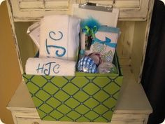 Graduation gift basket.  Great for those high school grads heading off to the #Party Ideas| http://partyideacollections.blogspot.com