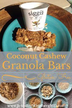 to School Gluten-Free Spiced Ginger Coconut Cashew Protein Granola ...
