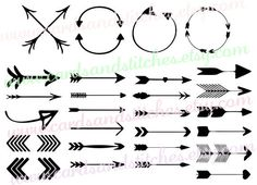 Arrows SVG - Decorative Arrows Svg - Circle Arrows Digital Cutting File - Graphic Design - Instant Download - Svg, Dxf, Jpg, Eps, Png