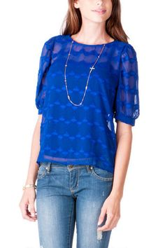 Love this top from  Francesca's