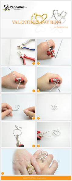 Jewelry making for beginners is one of the easiest crafts for a beginner to get into. In this tutorial, you can speedily create a pair of heart shape valentines day ring. No matter to given to beloved him or her, it can be more appreciated than those directly bought from the boutiques.