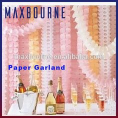 Birthday Party Wedding Decoration Paper Tassels / Paper Decorations/ Banners Garland
