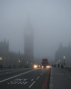 London fog - afailry rare sight these days (the air is now much cleaner and less polluted leading to far less fog)