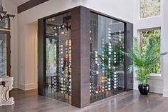 Contemporary Wine Cellar Design, Pictures, Remodel, Decor and Ideas - page 4 Glass Wine Cellar, Wine Cellar Racks, Wine Glass Storage, Home Wine Cellars, Wine Cellar Design, Vintage View Wine Racks, Wine House, Wine Display, Wine Wall