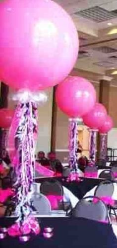 Balloon Centerpiece 50th Birthday Balloons Centerpieces Elegant Table