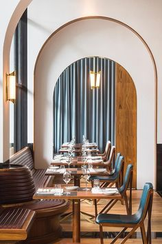 Origin Grill & Bar restaurant, Singapore | In the main room – furnished like an old-fashioned train station platform with hand-stitched Tripolina leather chairs and globe lamps – executive chef Heidi Flanagan works up a lip-smacking seasonal grill of snow