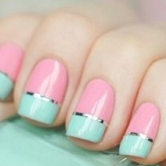 Try this #chic mani with a black or white dress for a POP of color!