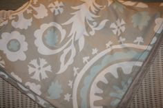 Taupe Suzani and Minky Blanket by DesignsbyChristyS on Etsy, $40.00