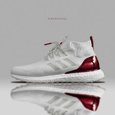 a4be13b5ad345 Adidas Ultraboost Mid - White   Ivory   Maroon Adidas Men