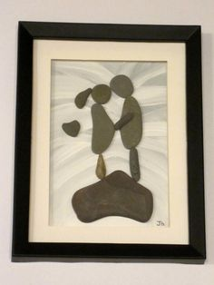 Expectant Mother Unique Framed Pebble Stone by PebbleSimplicity