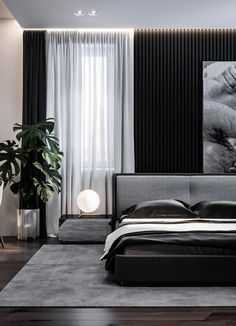 Home Interior Design - Dubrovka - Master bedroom - Master bathroom - on Behance Luxury Bedroom Design, Master Bedroom Interior, Modern Master Bedroom, Minimalist Bedroom, Contemporary Bedroom, Home Interior, Home Decor Bedroom, Bedroom Furniture, Interior Design