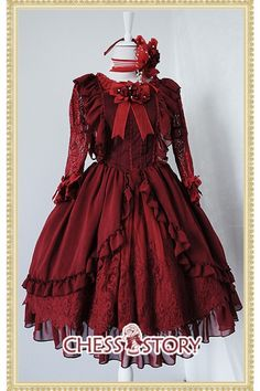 Chess Story Le Ballet Embroidery Lace Lolita Jumper Dress $99.99-Cotton Lolita Dresses - My Lolita Dress