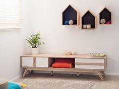 Mocka Shadow Boxes - houses - black with Jesse Low Sideboard Kids Storage Furniture, Cool Furniture, Living Room Furniture, House Furniture, Wooden Furniture, Contemporary Furniture, Affordable Storage, Affordable Furniture, Kid Furniture