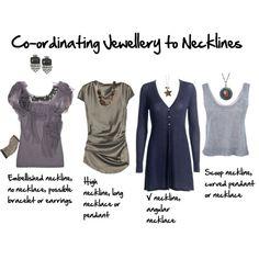 """Co-ordinating jewellery to necklines"""