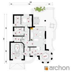 Projekt domu Dom pod juką 4 - ARCHON+ Village House Design, Village Houses, Bungalow Style House, 3d House Plans, House Construction Plan, Plans Architecture, Country Style House Plans, Good House, Design Case