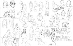 Street People Sketches by Tallychyck on deviantART
