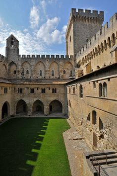 Avignon ~ Provence-Alpes-Côte d'Azur ~ France ~ Palais des Papes (Palace of the Popes) Places Around The World, Oh The Places You'll Go, Places To Travel, Around The Worlds, Avignon France, Provence France, Visit France, South Of France, Photo Chateau