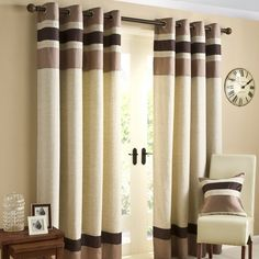 Chocolate Alban Curtain Collection | Dunelm