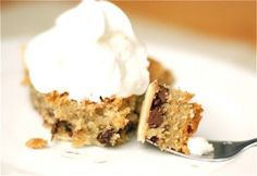 Chocolate Chip Cookie Pie ~ It's adapted from Toll House and is quite possible the most addictive Chocolate Chip Cookie Pie ever!