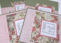 Card Set  Handmade Card Set  Set of 4 Cards  by PrettyByrdDesigns, $12.50