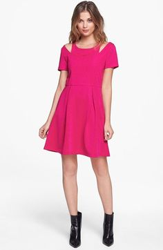 MINKPINK Shoulder Cutout Fit & Flare Dress available at #Nordstrom