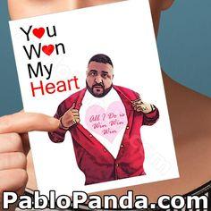 Funny Valentine Card DJ Khaled Friendship Gift by PabloPanda Miss You Cards, Love Cards, Funny Greeting Cards, Funny Cards, Anniversary Funny, Anniversary Cards, Presents For Boyfriend, Boyfriend Gifts, Funny Boyfriend