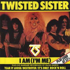 """For Sale - Twisted Sister I Am (I'm Me) UK  12"""" vinyl single (12 inch record / Maxi-single) - See this and 250,000 other rare & vintage vinyl records, singles, LPs & CDs at http://eil.com"""