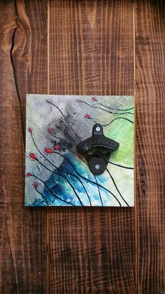 Hand Painted, One of a Kind, Wall Mounted Bottle Opener
