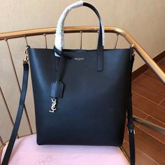 Saint Laurent Shopping Toy Bag in Calf Leather 498612 Black 2018 Designer  Bags For Less e67e57b2b2b19