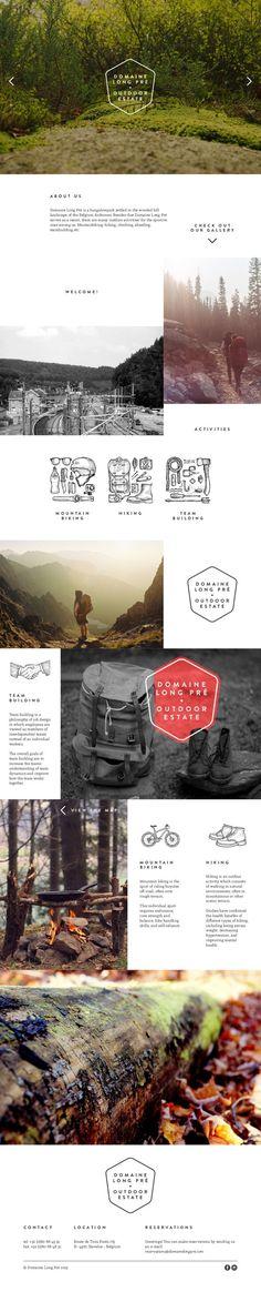 Domaine Long Pré by Julian Wouters Web Design Design Web, Web Design Mobile, Page Design, Graphic Design, Website Layout, Web Layout, Layout Design, Interface Web, Interface Design