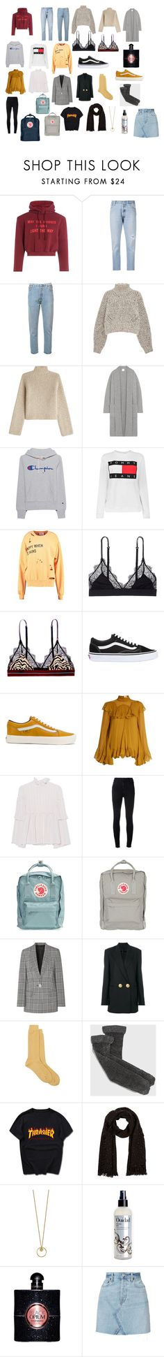 """""""triplistt"""" by rutguyman on Polyvore featuring Vetements, RE/DONE, Isabel Marant, Rosetta Getty, Madeleine Thompson, Champion, Tommy Hilfiger, LoveStories, Vans and Chloé"""