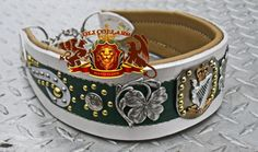martingale collar with  Irish coat of arms