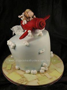 Adorable airplane cake