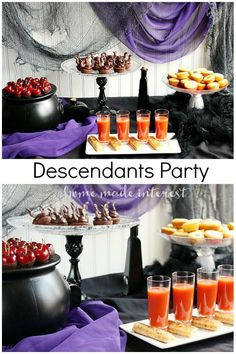 "Fun and easy food ideas for a Disney Villains party to celebrate the premiere of The Disney Channel's ""Descendants"". #Disney #VillainDescendants #ad"