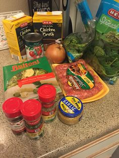 Tortellini Soup!   Add Olive oil, Minced garlic, chopped Yellow Onion into a big pan. Add in Italian sausage. After meat is cooked... Add Chicken stock, Can of diced tomatoes, Buitoni Tortellini and spices, -Basil -Parsley -Crushed red pepper, bring to a boil. Then simmer for 15 mins.  Add Fresh Spinach till warpped.  Serve and top with Parmesan cheese!   YUMMY!