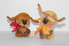 Купить Собачки Тедди - коричневый, подарок, авторская ручная работа, игрушка в подарок
