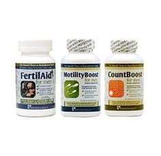 Natural supplements to help optimize sperm count, sperm motility and overall sperm health.  Fertilaid for Men, Motilityboost, & Countboost Combo Pack - Pinned with <3 by BabyHopes.com