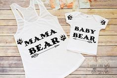"""This is the perfect matching mama bear and baby bear mommy and me outfit for you and your little """"bear"""". Great for mothers with boys."""