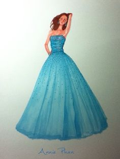 My illustration of a prom dress from a magazine