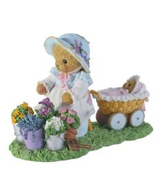 Look at this Cherished Teddies Gardening with Baby Figurine on #zulily today!