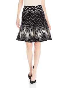 Max Studio Women's Flared, Printed Detail Sweater Skirt ** Check out this great product.