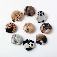 Cute Needle felting project animal wool animals pets (Via @caranfee)