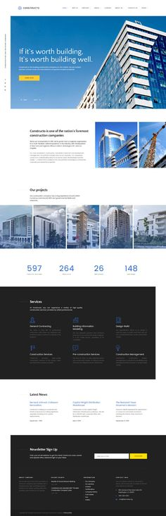 Construction Company #website #template. #themes #business #responsive #websitethemes