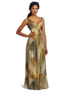 Anne Klein Collection Women's Maxi Dress, Multi, 2
