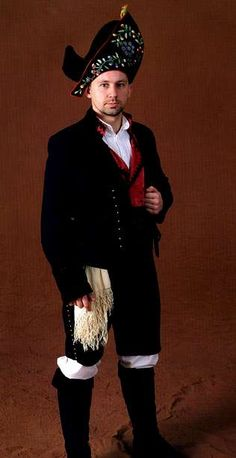 Man from Galicia, Spain in traditional clothing