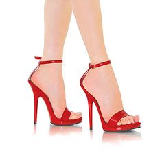 VIP 5 inch Red Thong Ankle Strap Sandal High Heel by IdealHeels ...